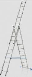 Trojdílný hliníkový žebřík - Profi 3x10