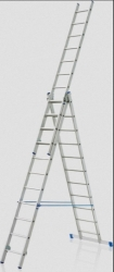 Trojdílný hliníkový žebřík - Profi 3x15