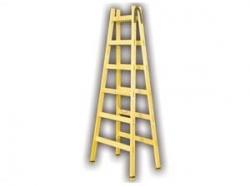 Štafle dřevěné PROFI 5 příček,L=166,5cm