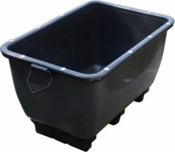 Přepravní stavební vana o objemu 200 litrů s úpravou pro zvedání